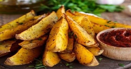 طريقة تحضير البطاطس المقرمشة المشوية للتخسيس
