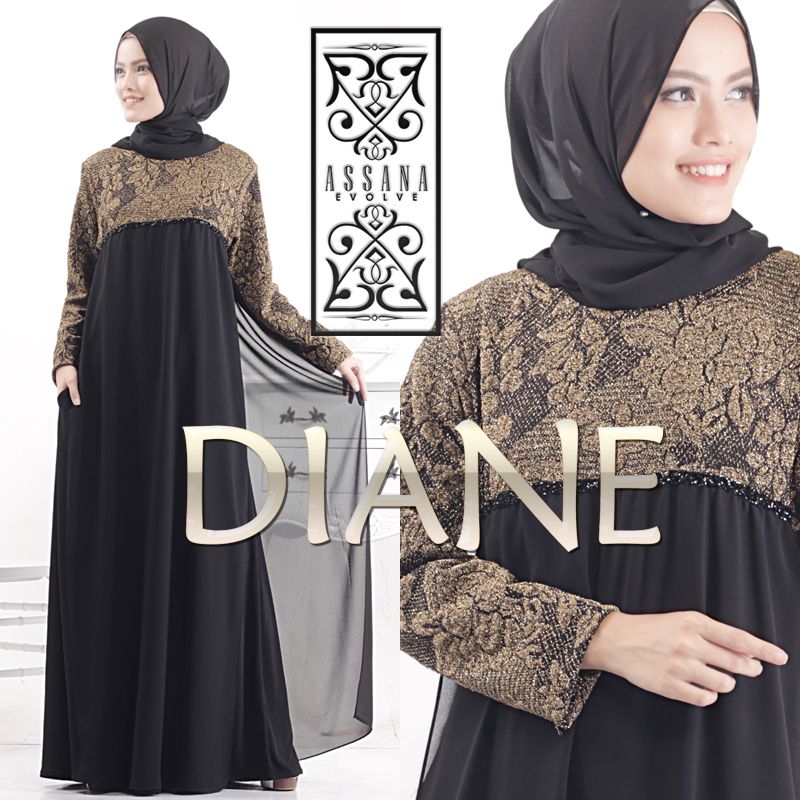 Jual Baju Hijab Terbaru Turki Diane Syar By Assana Evolve