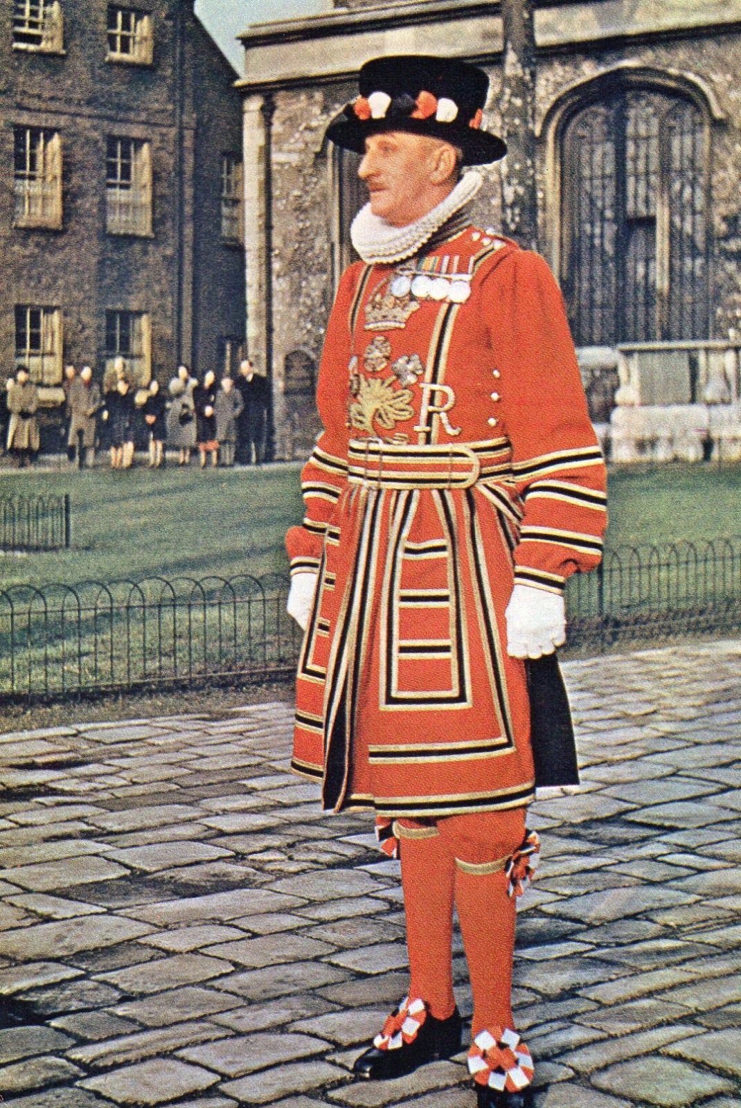 vintage, postcard, London, Beefeater, Tower of London,