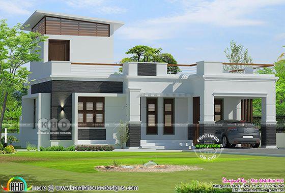 One floor 2 bedroom 1300 square feet Kerala home