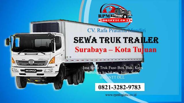 Sewa Truk Trailer Surabaya ke Kota Tujuan | 0821.3282.9783