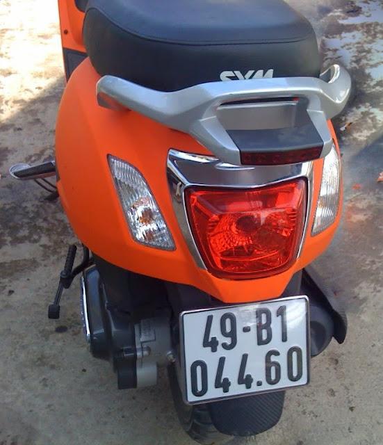 Sơn xe Attila Elizabeth màu cam nhám cực đẹp