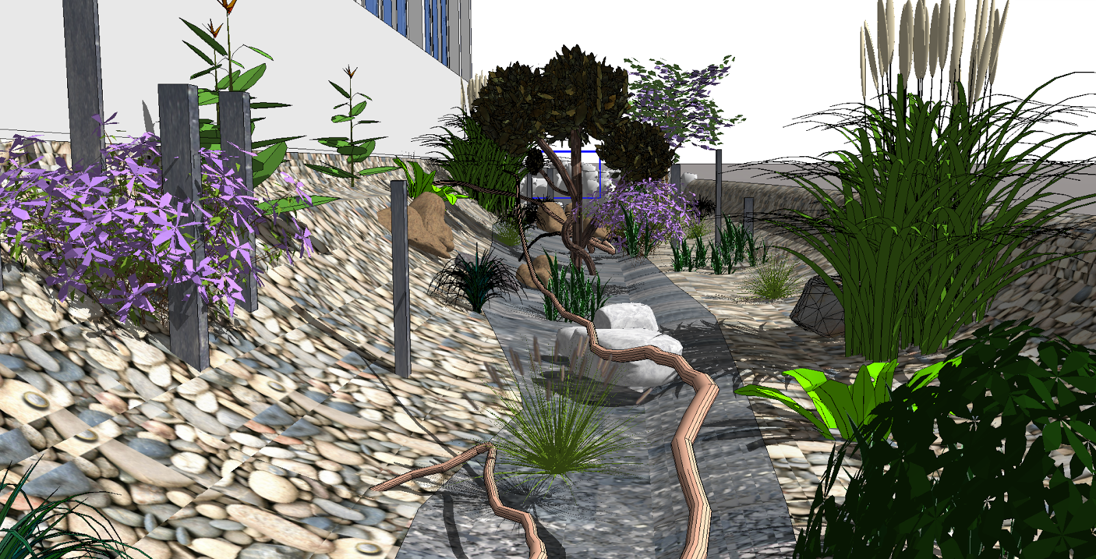 Realiser Massif Avec Galet citygardnergardncity : création d'une rivière sèche