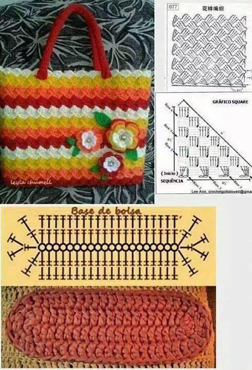 Bolsos tejidos con ganchillo con patrones gratis