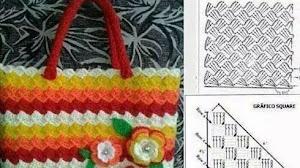 2 patrones de bolso tejido al crochet