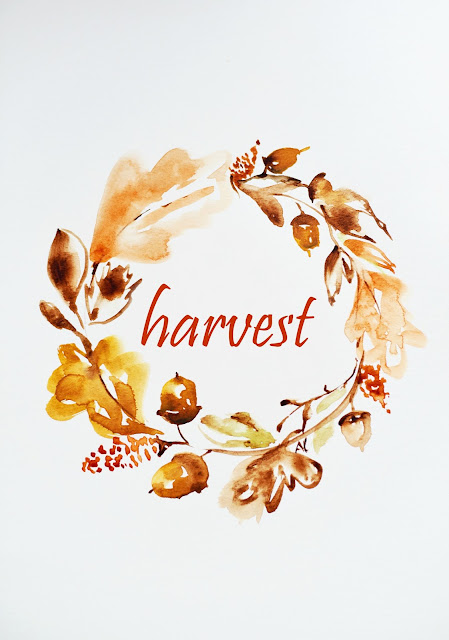 free fall wreath printable