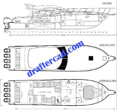 membuat gambar kapal cepat - draftercad.com