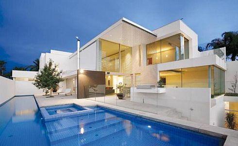 Hogares frescos modelos de casas minimalistas para un for Casa minimalista grande