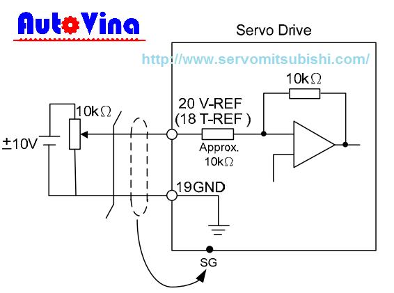 Hướng dẫn đấu nối Servo ASD-B2 chế độ Speed và Torque, sơ đồ đấu chiết áp và điều khiển bằng tín hiệu 0~10V