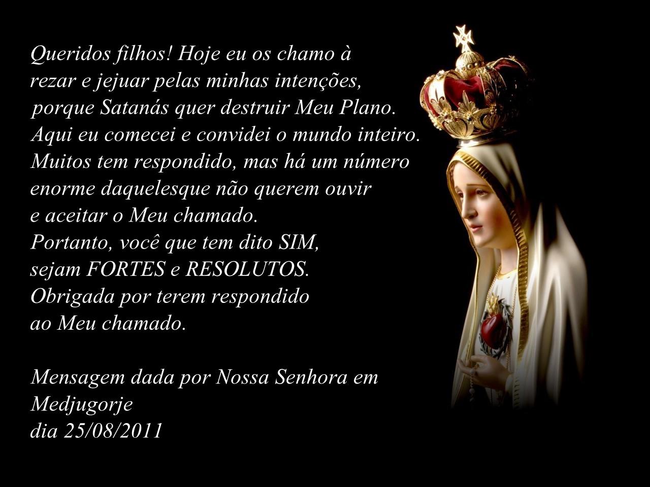 Mensagem De Nossa Senhora Aparecida Para O Dia 12 De: Grupo De Oração Luz E Vida: Mensagem De Nossa Senhora Em