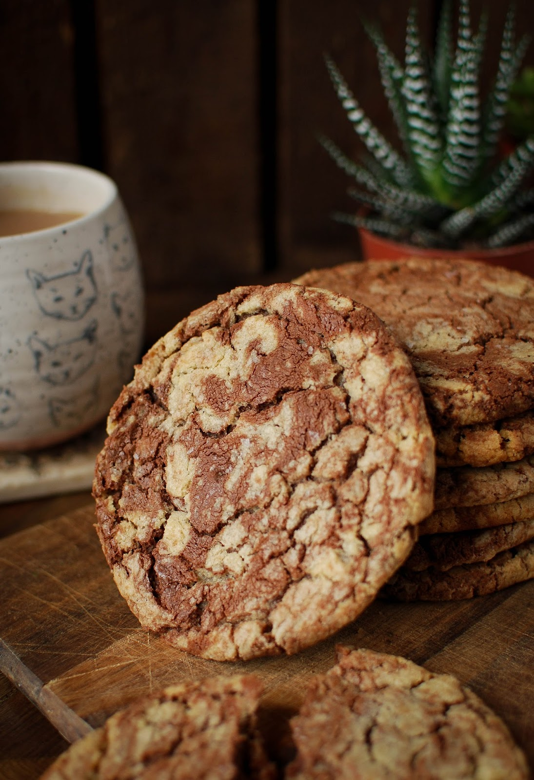 These giant salted nutella cookies from Tanya Bakes are the king of cookies.  Give them a try and see for yourself.