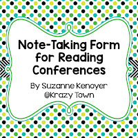 Use this recording sheet to take notes during your student conferences in reading workshop.