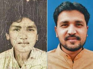 Two faces of Aftab Bahadur Masih, separated by two decades on death row.