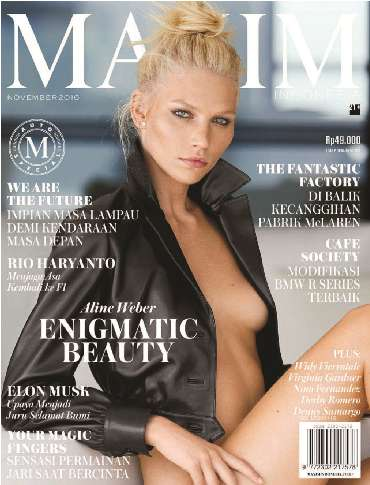 Download Majalah MAXIM Indonesia Edisi November 2016 Aline Weber, Widy Vierratale, Virginia Gardner | www.insight-zone.com