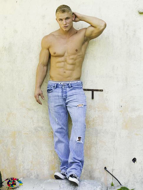 Hunk in Blue Jeans Blond Hunk