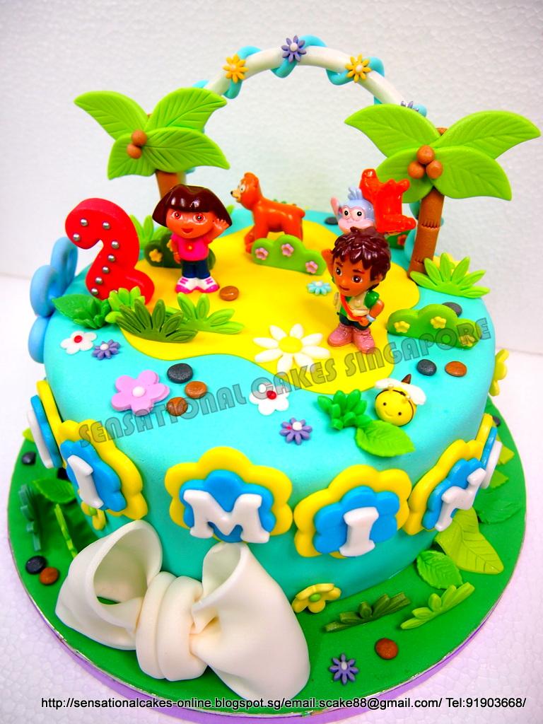 The Sensational Cakes Diego And Dora Cake Singapore