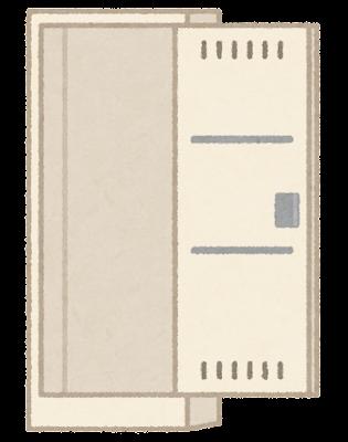 掃除ロッカーのイラスト(空)