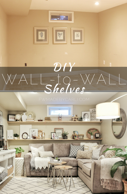 FEARFULLY & WONDERFULLY MADE: Process:  Wall to Wall Shelving