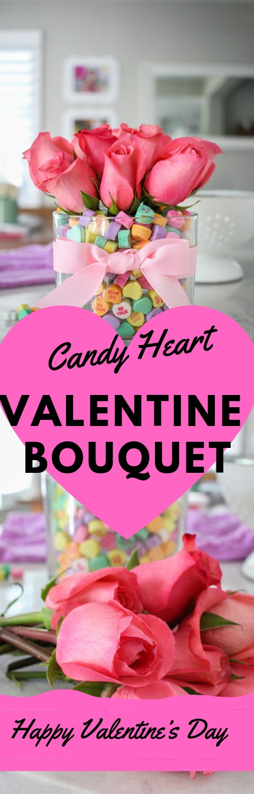 Candy Heart Bouquet #CANDY #HEART #VALENTINEDAY