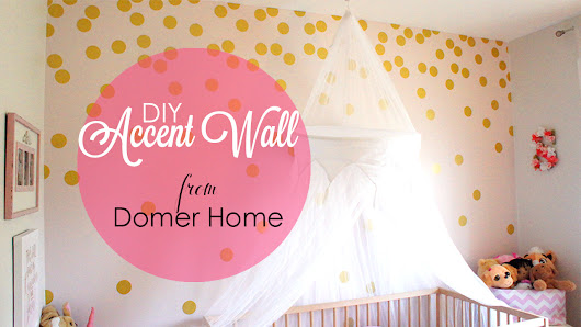 DIY ACCENT WALL | GOLD POLKA DOTS