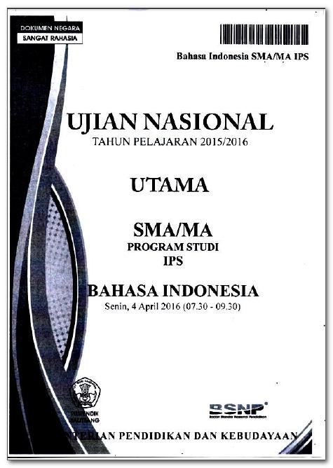 Soal Unbk Bahasa Indonesia Sma 2018 : bahasa, indonesia, Download, Tahun, Semua, Pelajaran, (Naskah, Asli), M4TH-LAB