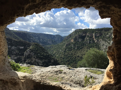 View from San Micidiario Cave, Pantalica.