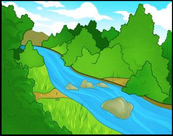 Super Mudah Menggambar Pemandangan Sungai Belajar Menggambar