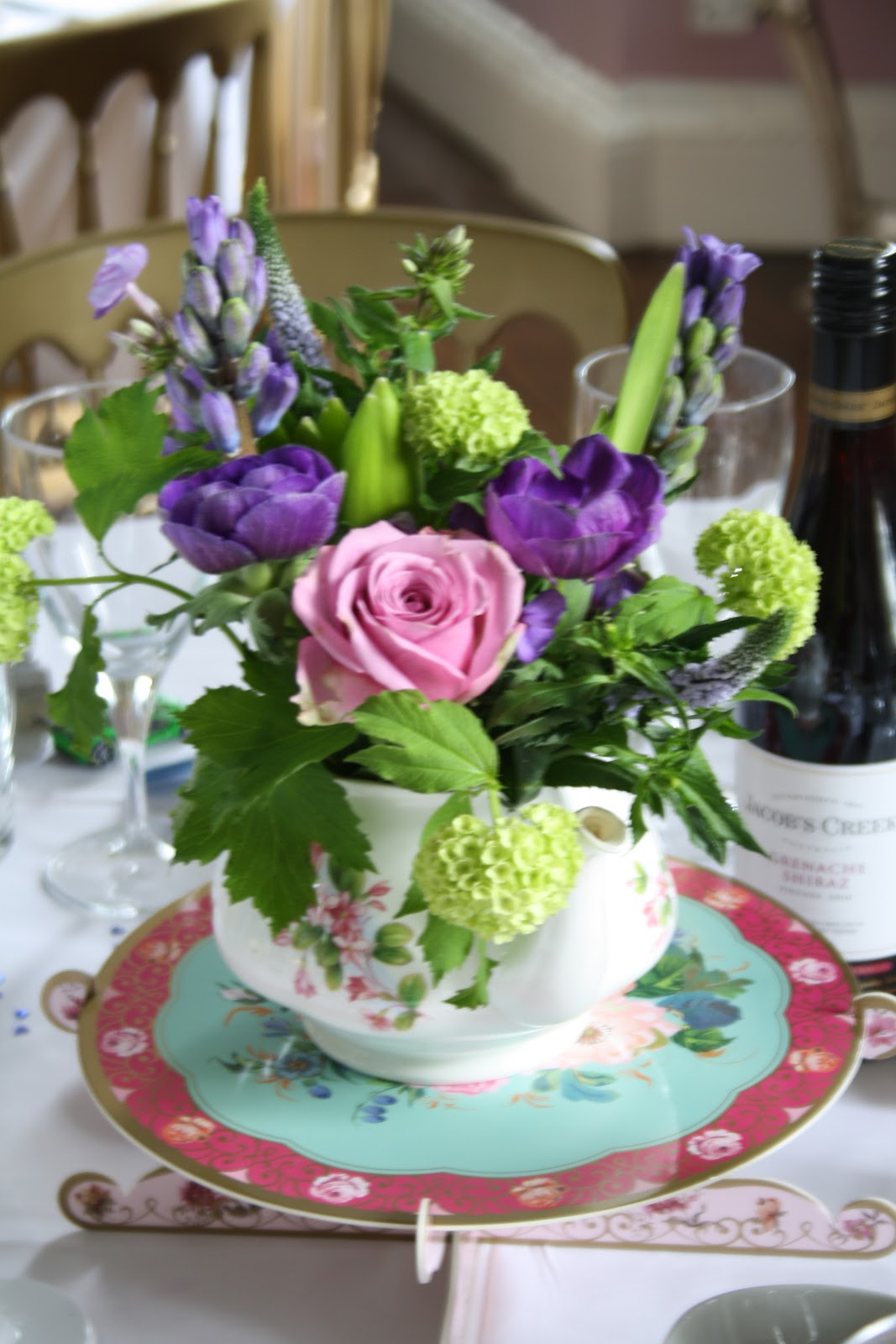 The Blossom Tree Birdcages Teapots With Purple Country