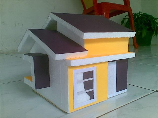 Gambar Miniatur Rumah Dari Kertas Karton Uu Rumah