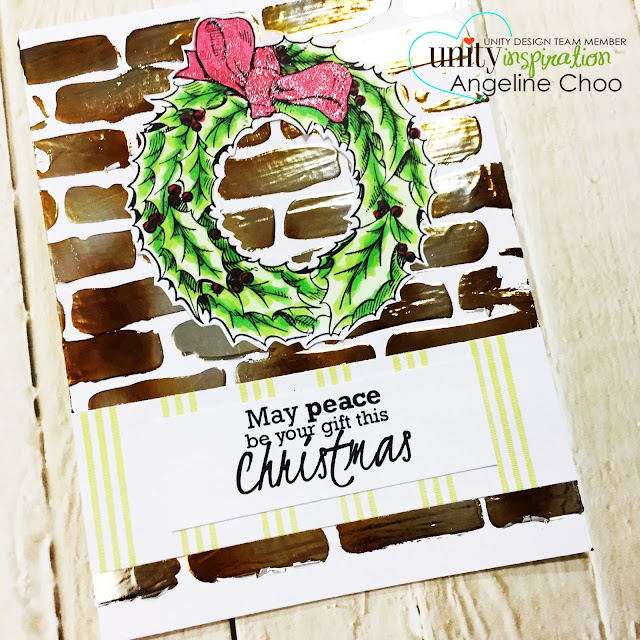 ScrappyScrappy: Unity Stamp Blog Hop with Graciellie Designs #scrappyscrappy #unitystampco #gracielliedesigns #stamp #stamping #quicktipvideo #processvideo #youtube #craft #crafting #scrapbook #scrapbooking #thermoweb #decofoil #heidiswapp #miniminc #foiling #christmascard #holidaycard #spectrumnoirsparklepen #tcwstencil #decofoiltransfergel