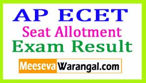 AP ECET Allotments Seats 2017 Apecet.org