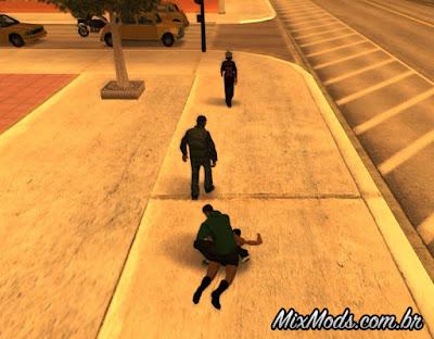 pedestrians looting gta mod