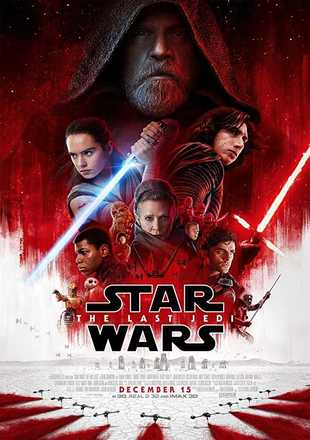 Poster of Star Wars: The Last Jedi 2017 Full Hindi Movie Download Dual Audio Hd Watch Free Online in English
