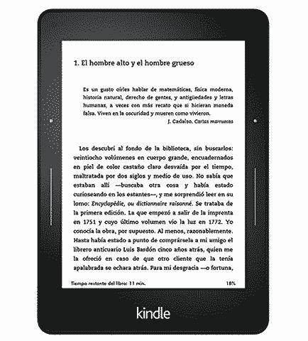 Las principales especificaciones del lector electrónico Kindle Voyage