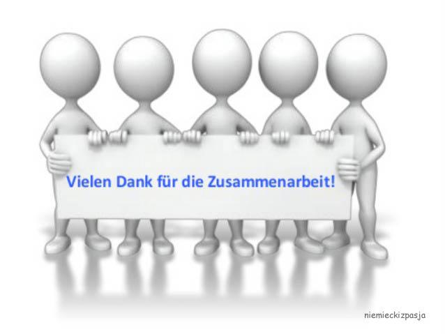 łączy Nas Pasja Język Niemiecki Podziękowania Za