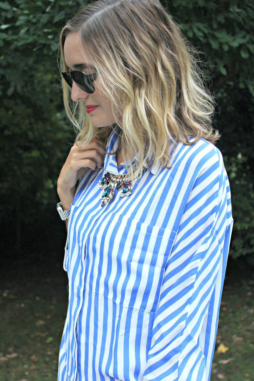 shein striped top