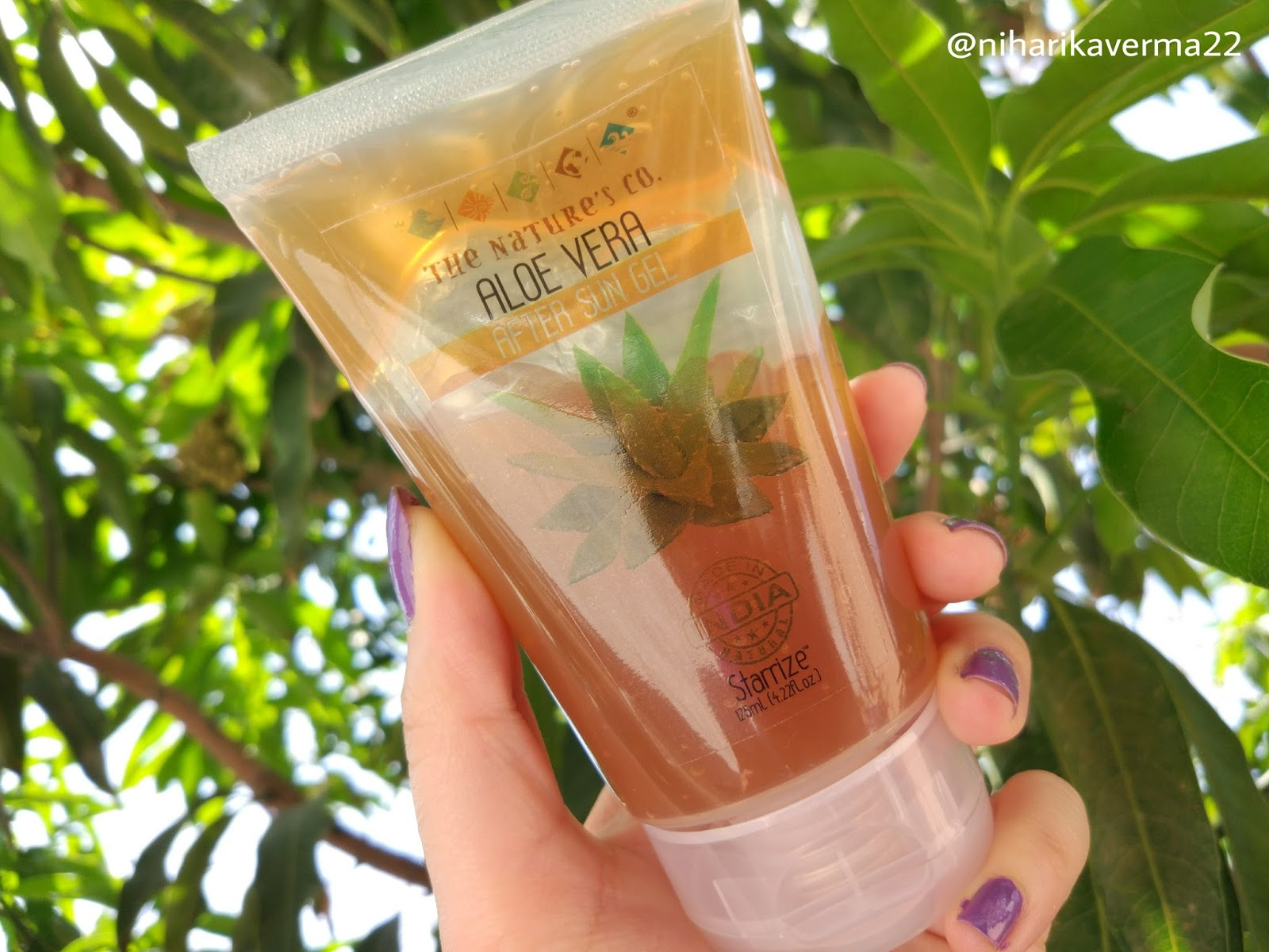 The Pink Velvet Blog - The Nature's Co. After Sun Aloe Vera Gel