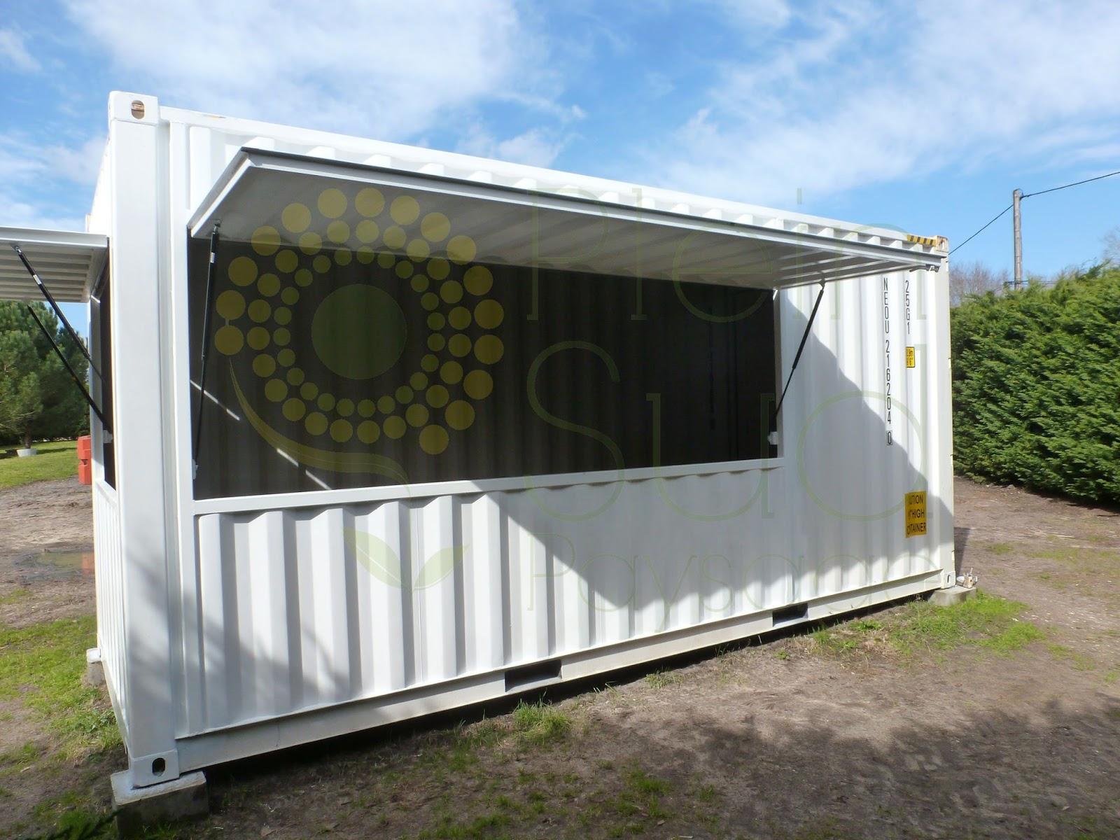 Transformer Container En Maison destiné transformation & aménagement container maritime snack/bar