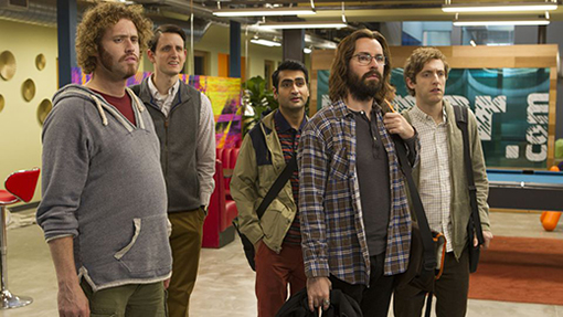 Richard, Erlich, Jared, Gilfoyle y Dinesh silicon valley temporada 3 hbo