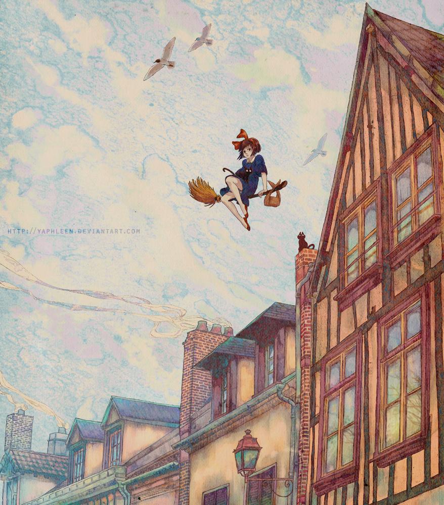 b577a8933 The Geeky Nerfherder: Cool Art: Studio Ghibli Art by Yaphleen