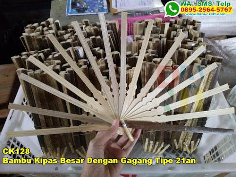 Toko Bambu Kipas Besar Dengan Gagang Tipe 21an