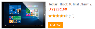 Teclast Tbook 16 Intel Cherry Z8300 Quad Core 1.44GHz 11.6 Inch Dual Boot Tablet