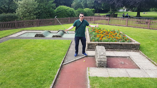 Crazy Golf course at Manor Park in Glossop