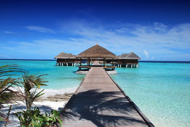 beach, ocean, island