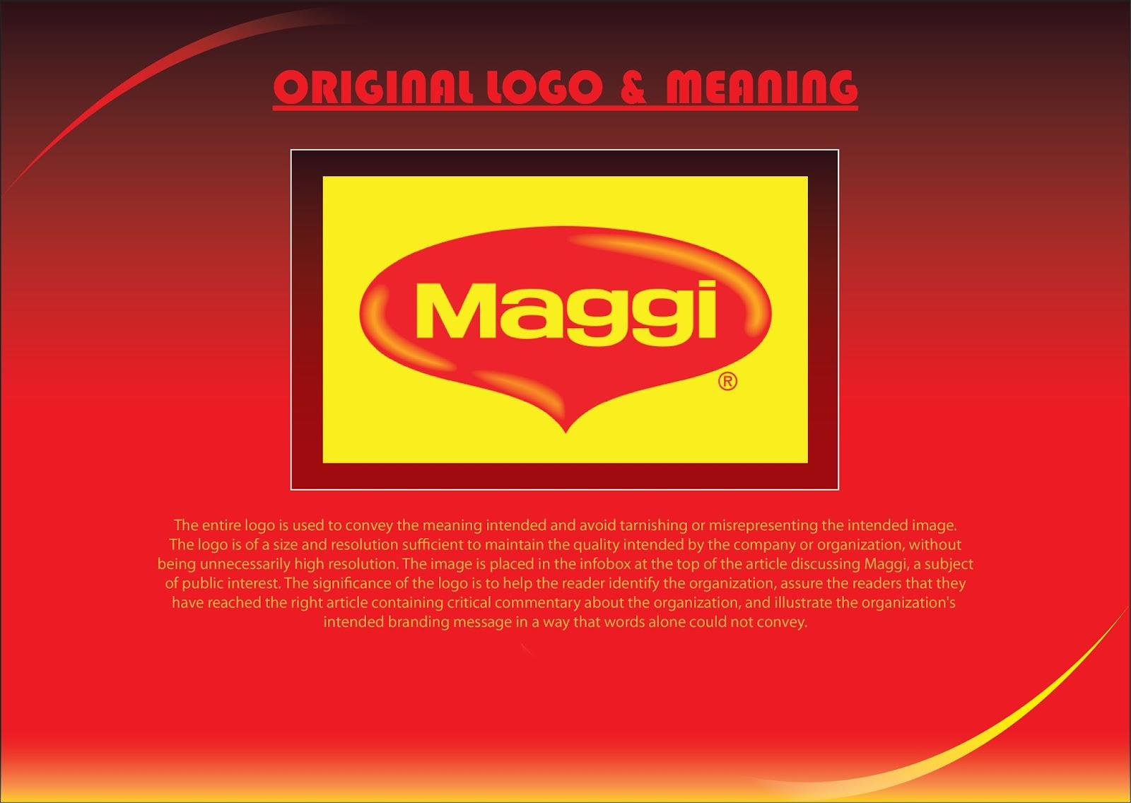 Subhajit Bhattacharjee: RECREATED MAGGI LOGO FROM ORIGINAL LOGO BY ... | {Maggi logo 21}