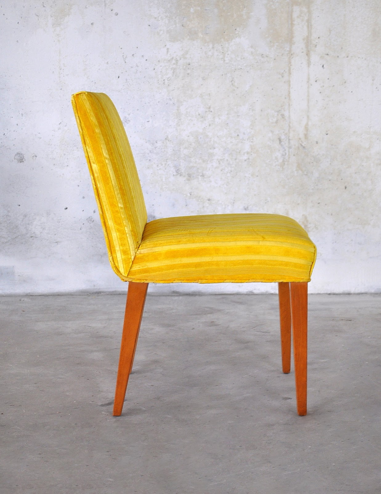 Yellow Upholstered Dining Chairs Plastic Folding Chair Select Modern June 2013