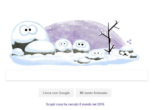 Solstizio d'Inverno 21 dicembre: Oggi con un Doodle animato