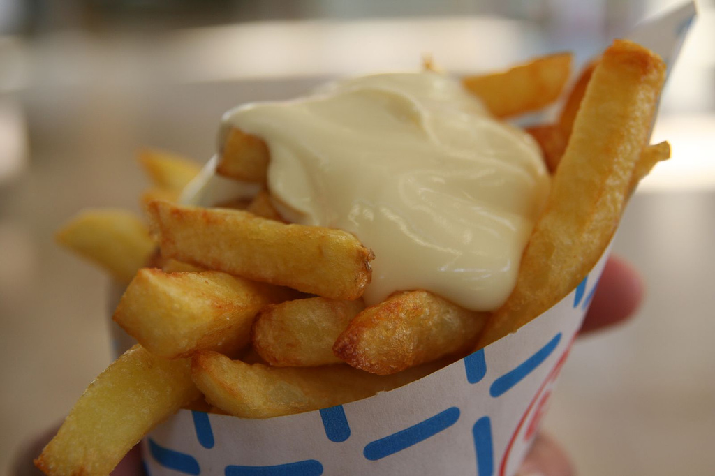 Paleo Flemish Frites - Belgian Fries with Andalouse Sauce