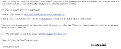kalautau.com - verifikasi email dari cloudflare