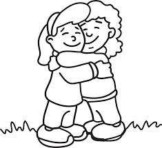 LOVE Expressed Through DOODLES: HUG Coloring Page